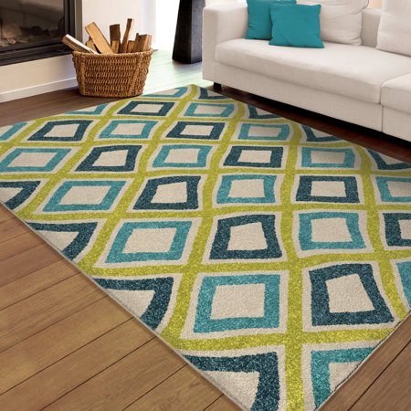 orian rugs indoor outdoor bright swirly squares area rug. Black Bedroom Furniture Sets. Home Design Ideas