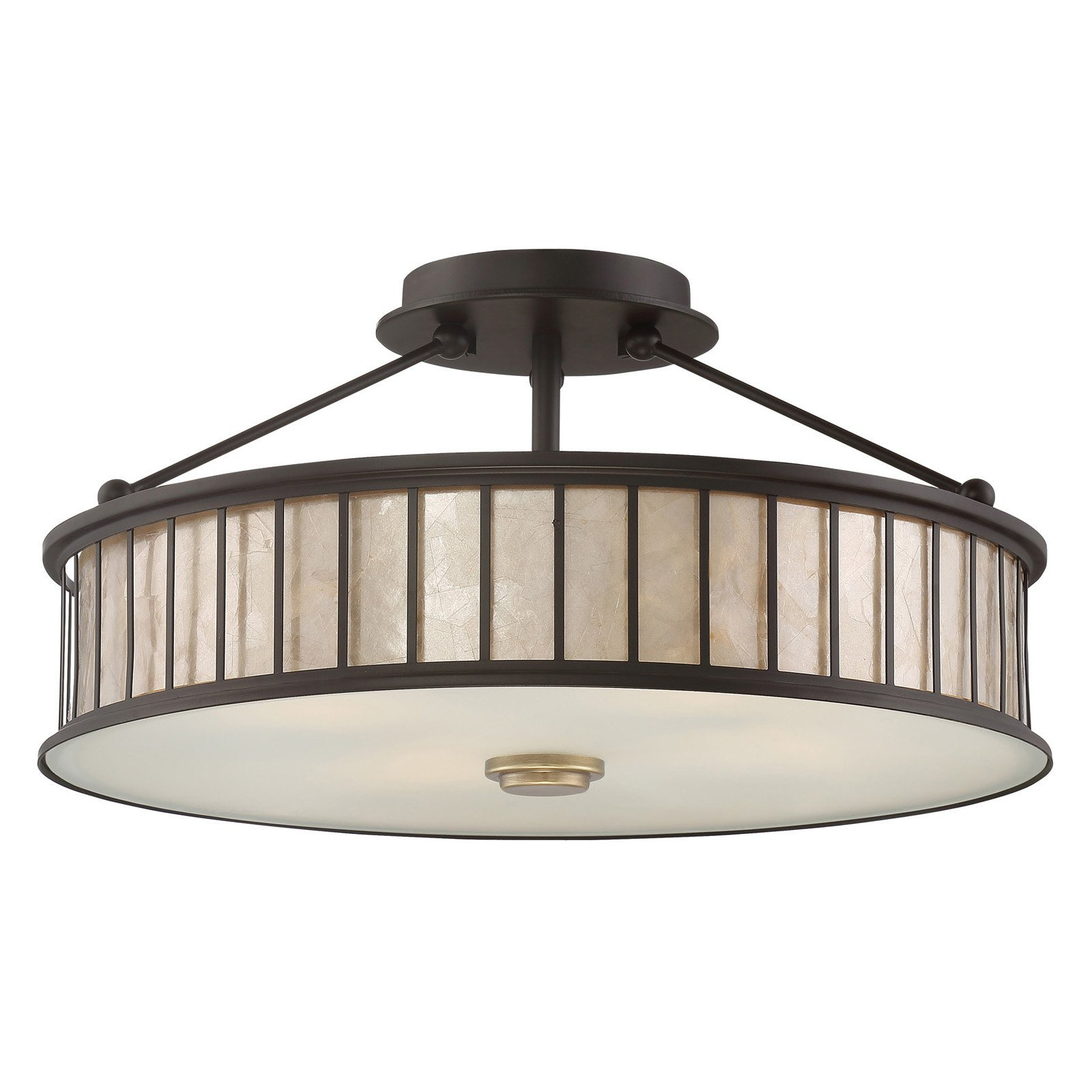 Quoizel Belfair MCBF1717WT Semi-Flush Mount Light by Quoizel
