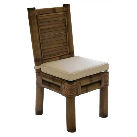 Side Chair in Natural Finish (Leilani Rainforest) ()