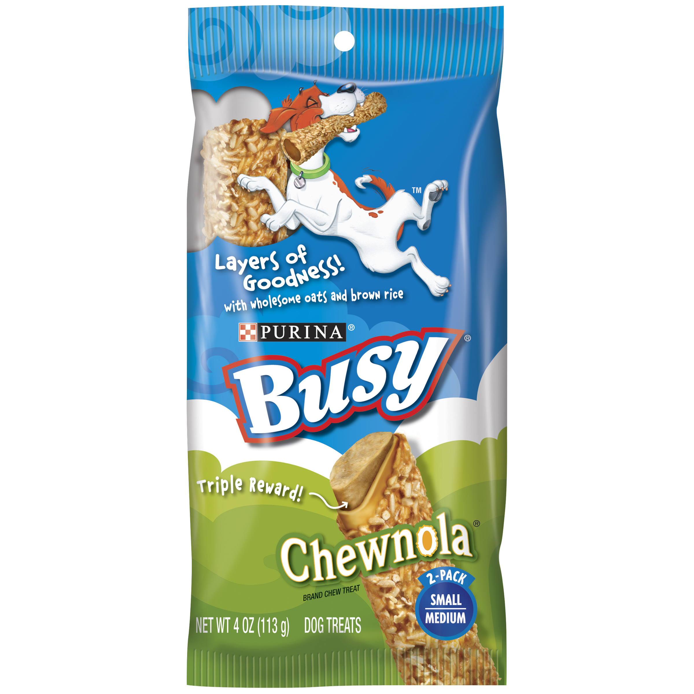 Purina Busy Chewnola Small/Medium Dog Treats 2 ct Pouch