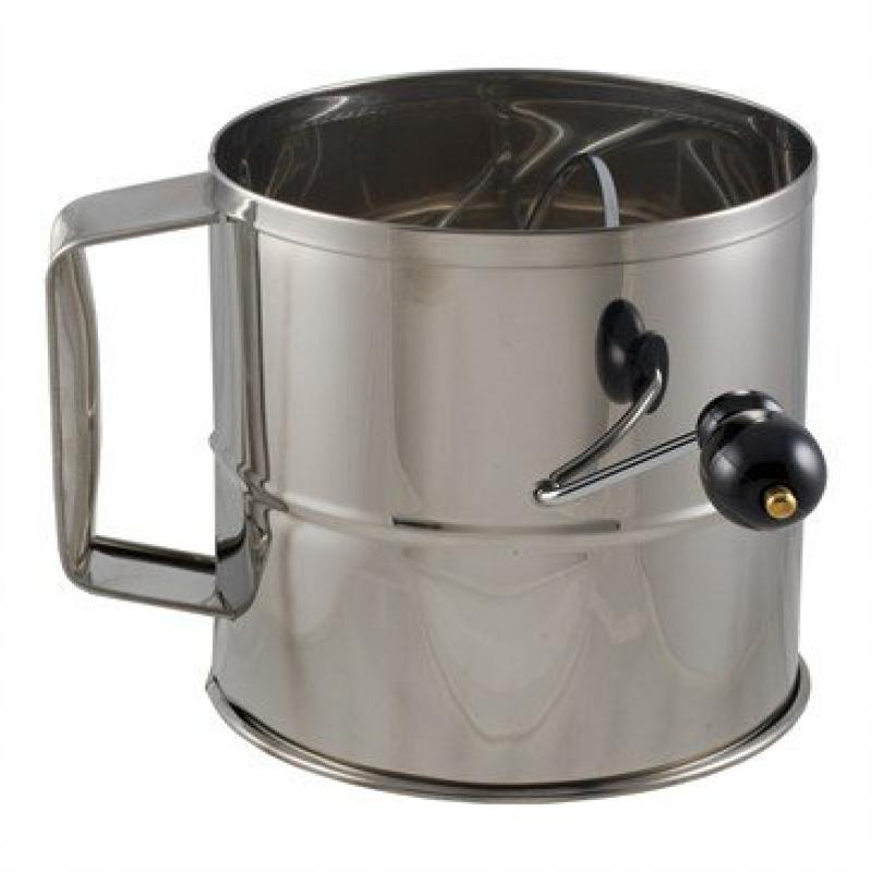 Crestware SFS08 Stainless Steel 8 Cup Flour Sifter by Libertyware