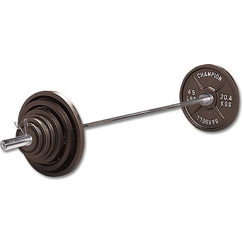 Champion 400-Pound Olympic Weight Set, Silver