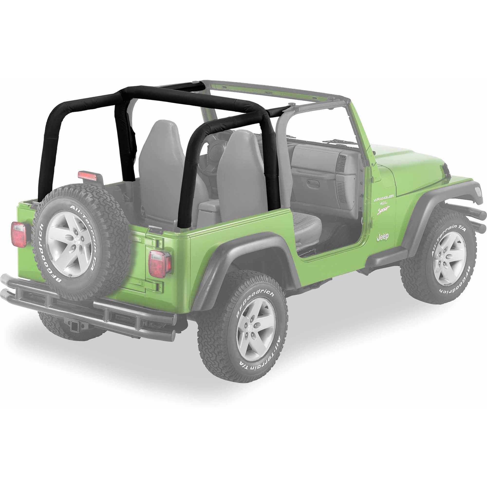 Bestop 80022-35 Jeep Wrangler 2-Door Sport Bar Covers, Black Diamond