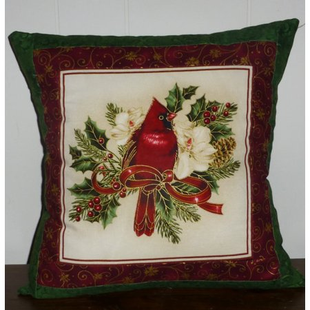 christmas decorative pillow covercardinalrich looking beautiful with pine holly and - Christmas Decorative Pillow Covers