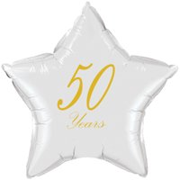 50 YEARS CLASSY GOLD STAR BALLOON (EACH) by Partypro