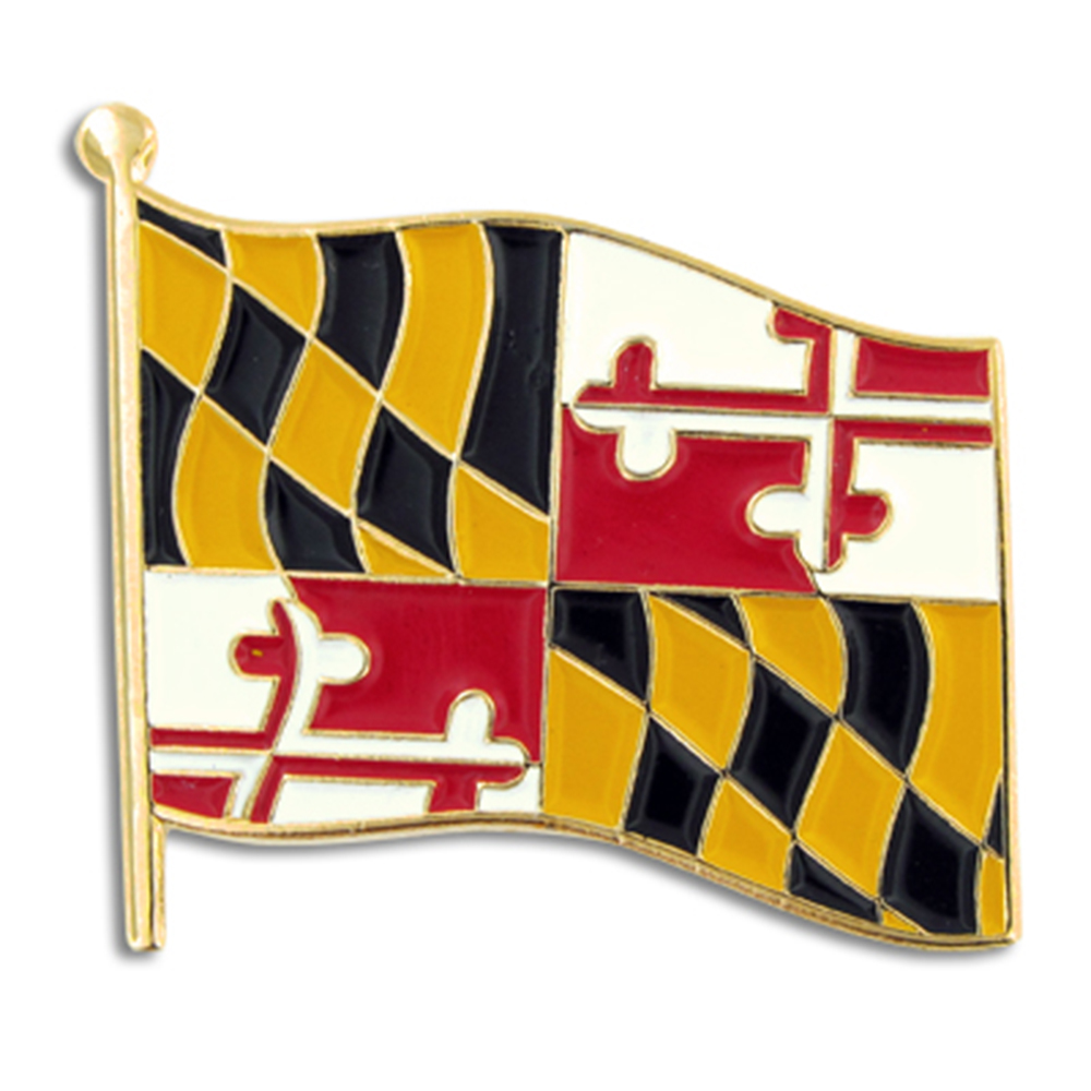 PinMart's Maryland US State Flag MD Enamel Lapel Pin 1