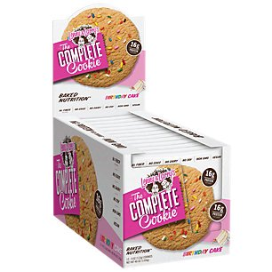 21st Birthday Cookies - Lenny & Larry's The Complete Cookie, 16g of Protein, Birthday Cake, 4 Oz, 12 Ct