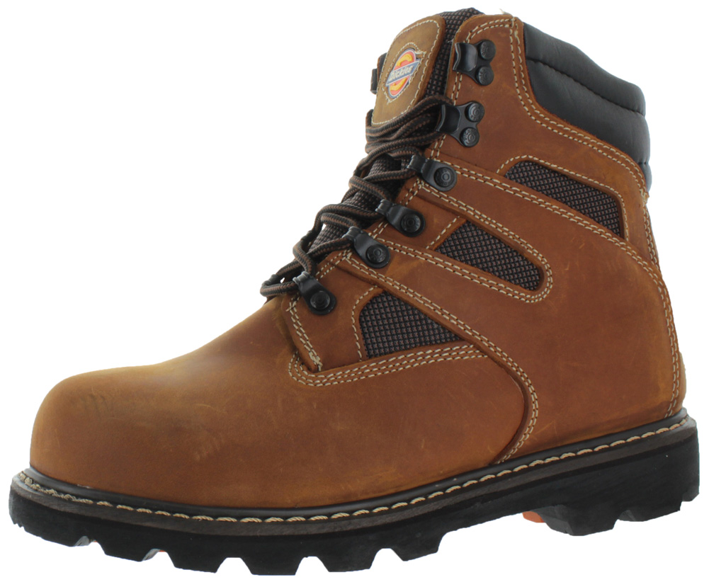 Dickies Grinder Men's Steel Toe Work Boots E Wide Width Leather ...