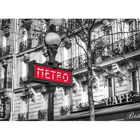 Paris Metro sign Stretched Canvas - Assaf Frank (9 x -