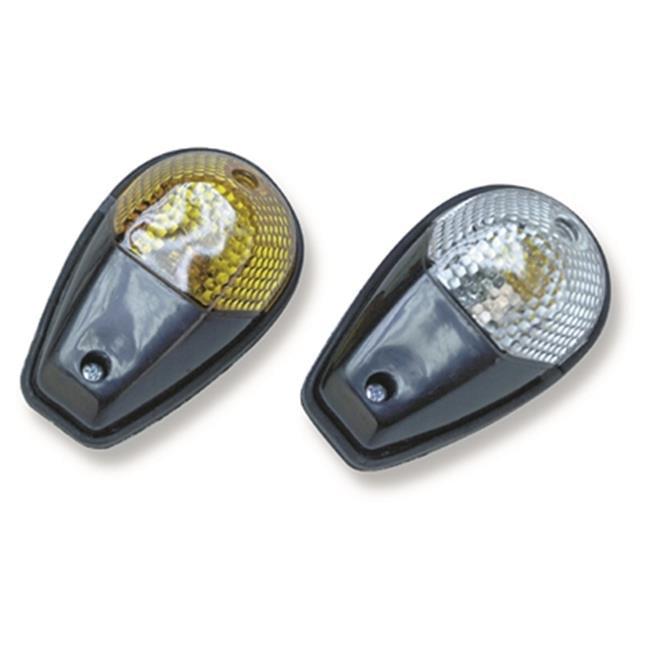 K&L Supply 23-7971 Flash Mount Marker Signal Light Single - Clear & Black