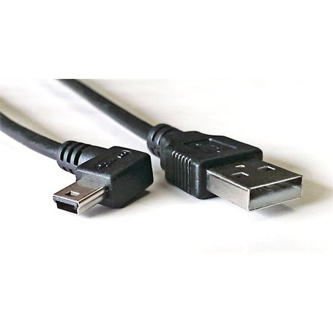 Works 22-101-01 USB Mini Left Angle Cable, 20.5 in. Long