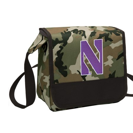 CAMO Northwestern Lunch Bag Stylish OFFICIAL NU Wildcats CAMO Lunchbox Cooler for School or Office - Men or Women ()
