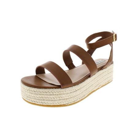 Steve Madden Womens Sarong Faux Leather Espadrille Wedge Sandals (Steve Madden Sandals)