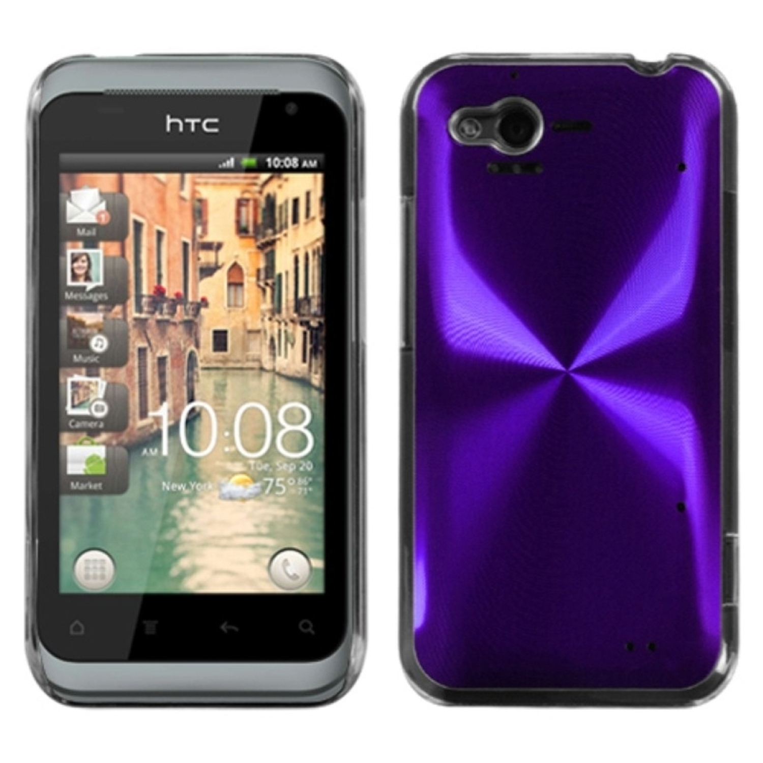Insten Purple Cosmo Back Case for HTC: ADR6330 (Rhyme)
