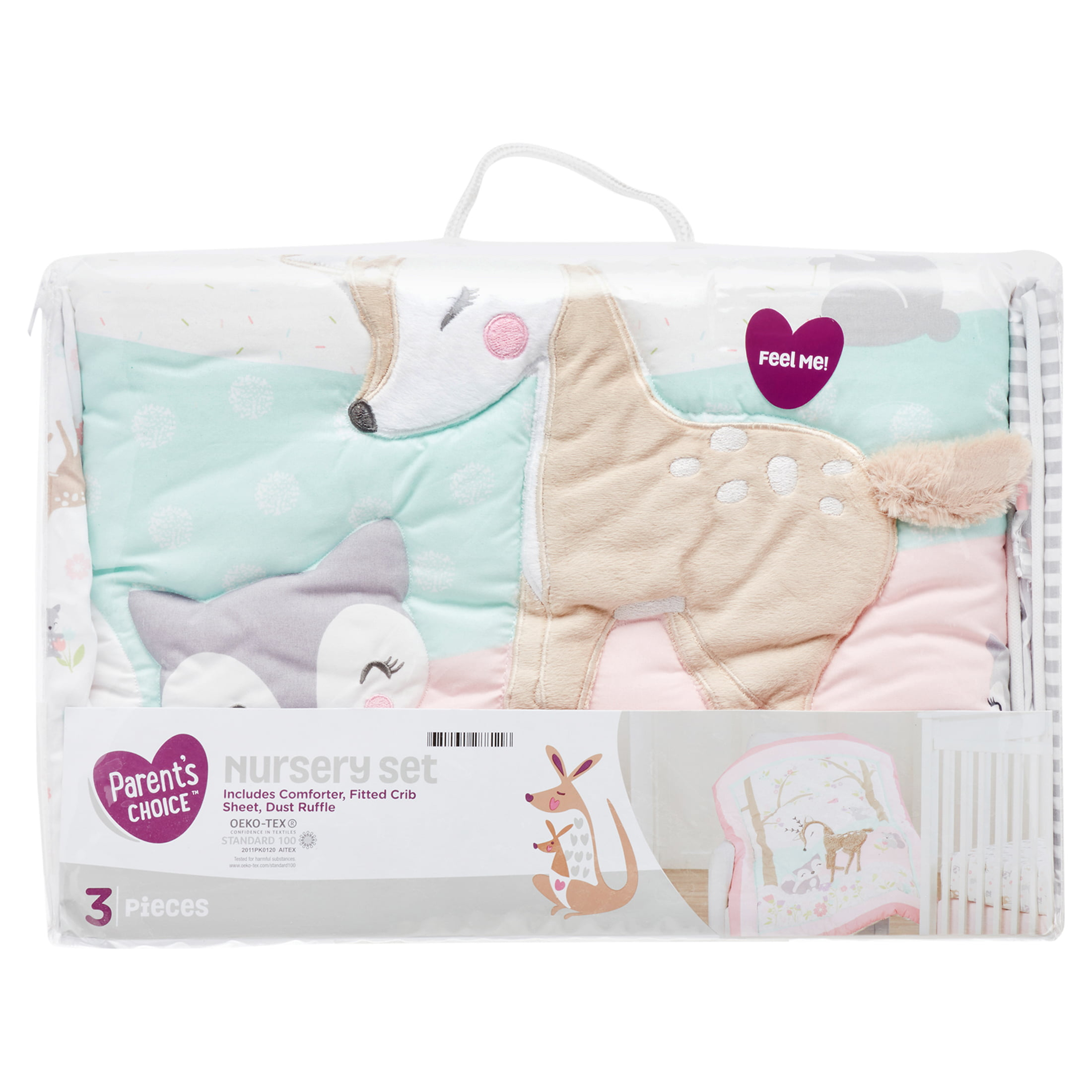 Fitted Sheet and Dust Ruffle Parents Choice Twinkle Twinkle Little Star Baby Nursery Set Includes Comforter
