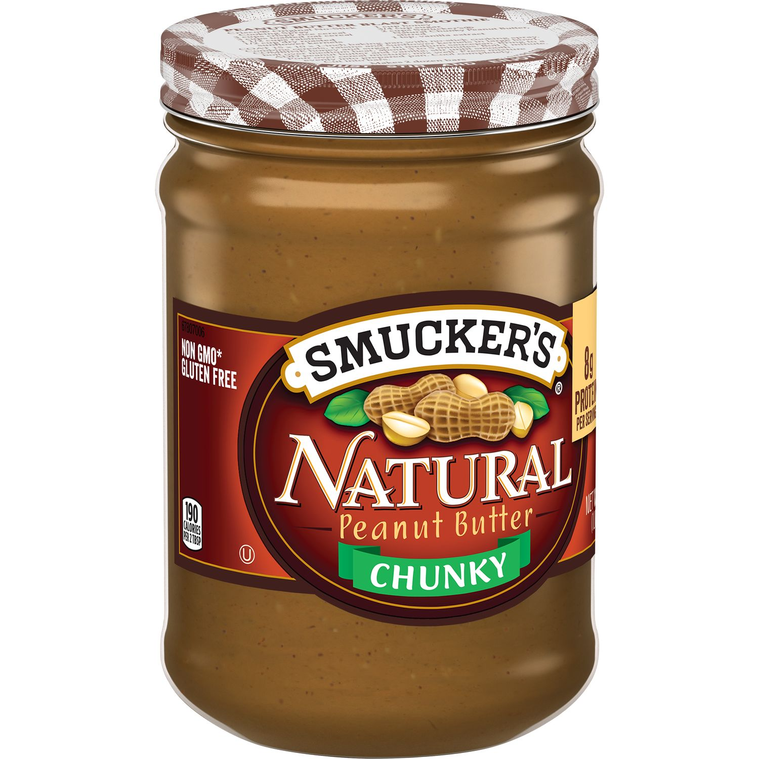 Smucker's Chunky Natural Peanut Butter, 16-Ounce