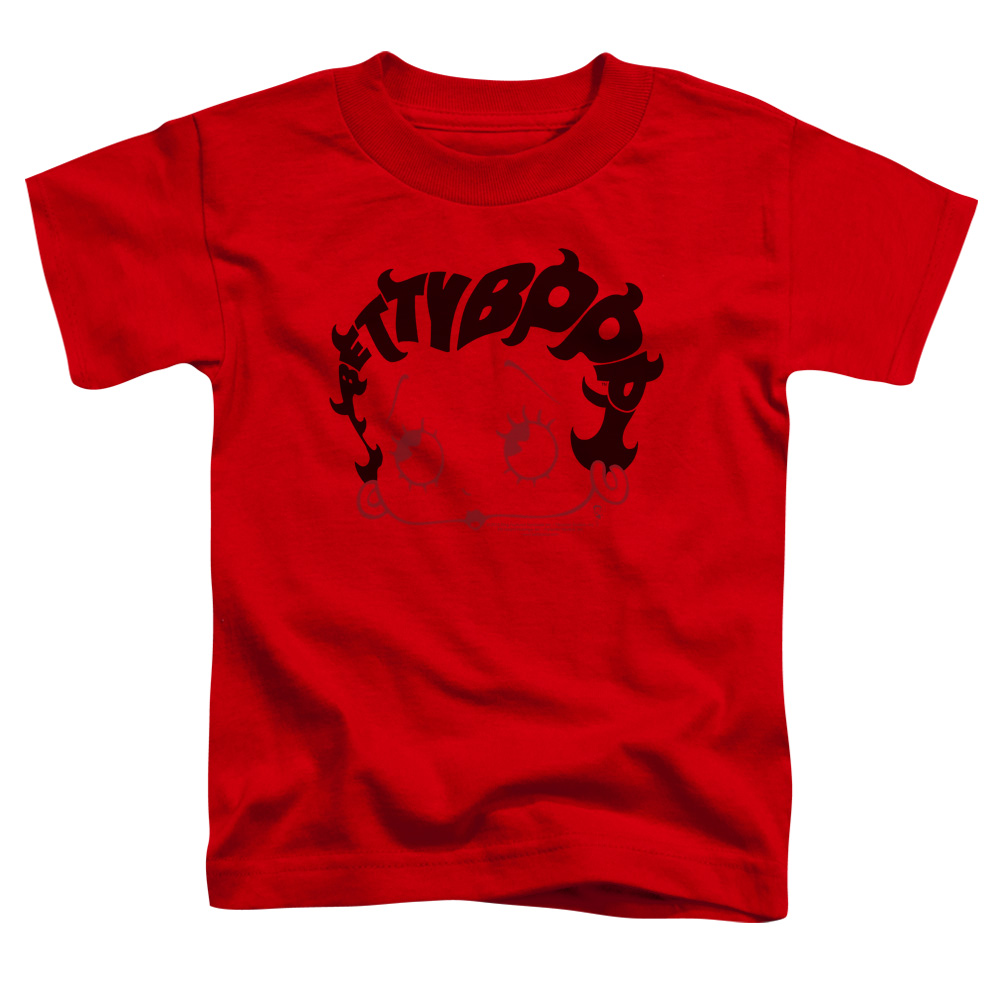 Boop/Word Hair   S/S Toddler Tee   Red      Bb748