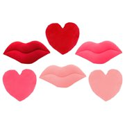 Sien Red and Pink Emoji Lips and Hearts Throw Pillows