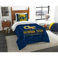 "NCAA Georgia Tech Yellow Jackets ""Modern Take"" Bedding Comforter Set"