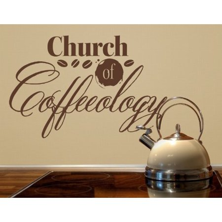 Church of Coffeology Wall Decal coffee wall decal sticker mural vinyl