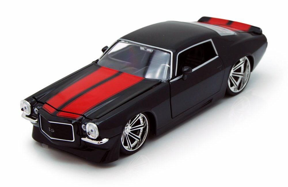 1971 Chevy Camaro, Black w  Red Stripes Jada Toys 90535 1 24 scale Diecast Model Toy Car... by Jada