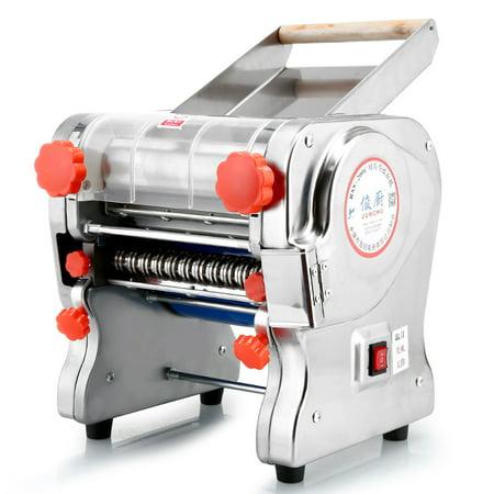 110V 750W Electric Pasta Press Maker Noodle Machine Dumpling Skin Home Commercial ,Dough knife length 24cm ()