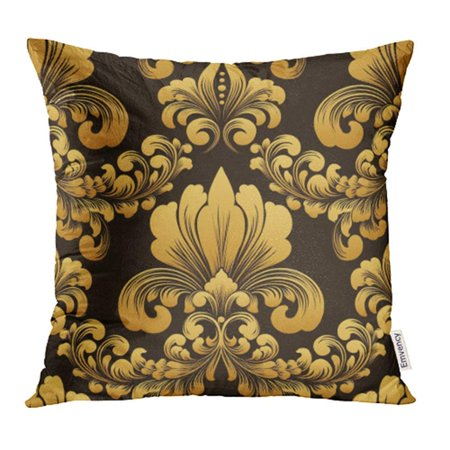 ARHOME Damask Classical Luxury Old Fashioned Royal Victorian for Exquisite Floral Baroque Pillowcase Cushion Cover 18x18 (Exquisite Fashion)