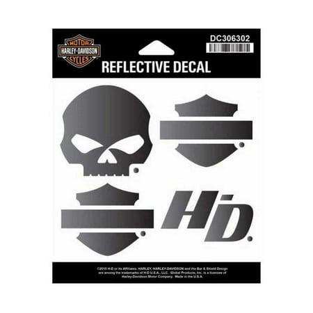 Harley-Davidson Night Rider Reflective Logo Decal Set, SM Size DC306302, Harley Davidson