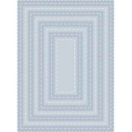 - Tutti Designs - Dies - Nesting Stitched Scallop Rectangles