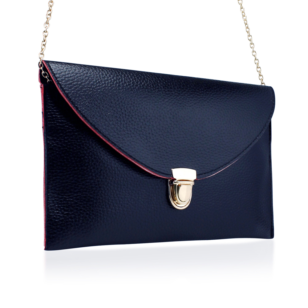 Fashion Women Handbag Shoulder Bags Envelope Clutch Crossbody Satchel Purse Leather Lady Messenger Hobo Bag - Midnight Blue