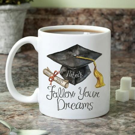 Personalized Follow Your Dreams Graduation 11 oz Mug - Personalized Christmas Mugs