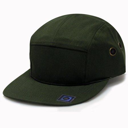 City Hunter Cn140 Plain Blank 5 Panel Hats 13 Colors (Olive) - Walmart.com 93986db788d