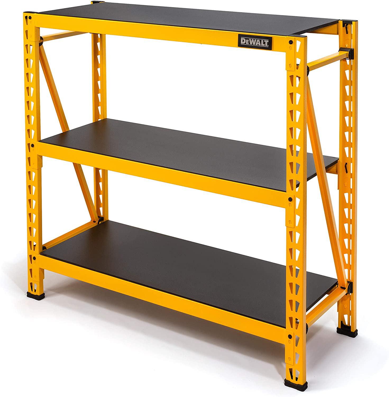 DEWALT 4-Foot Tall, 3-Shelf Industrial Workshop/Garage Storage