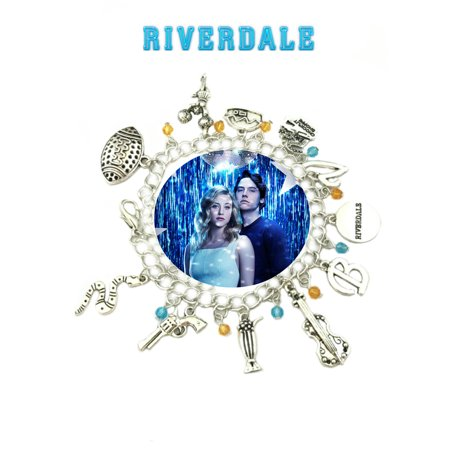 Riverdale Charm Bracelet TV Show Series Archie Comics Jewelry Multi Charms - Wristlet - Superheroes Brand Movie Superhero Comic Cartoon Collection