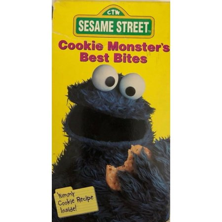 Sesame Street-Cookie Monsters Best Bites(VHS 1995)TESTED-RARE VINTAGE-SHIP