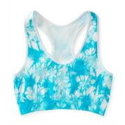 Aeropostale Womens Tie Dye Sports Bra, Blue, Medium