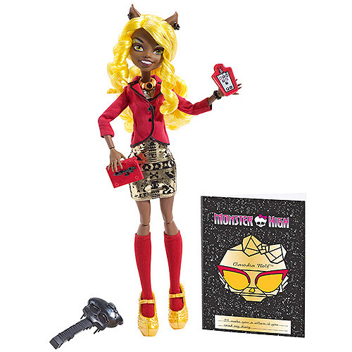 Monster High Frights Camera Action Hauntlywood Clawdia Wolf Doll