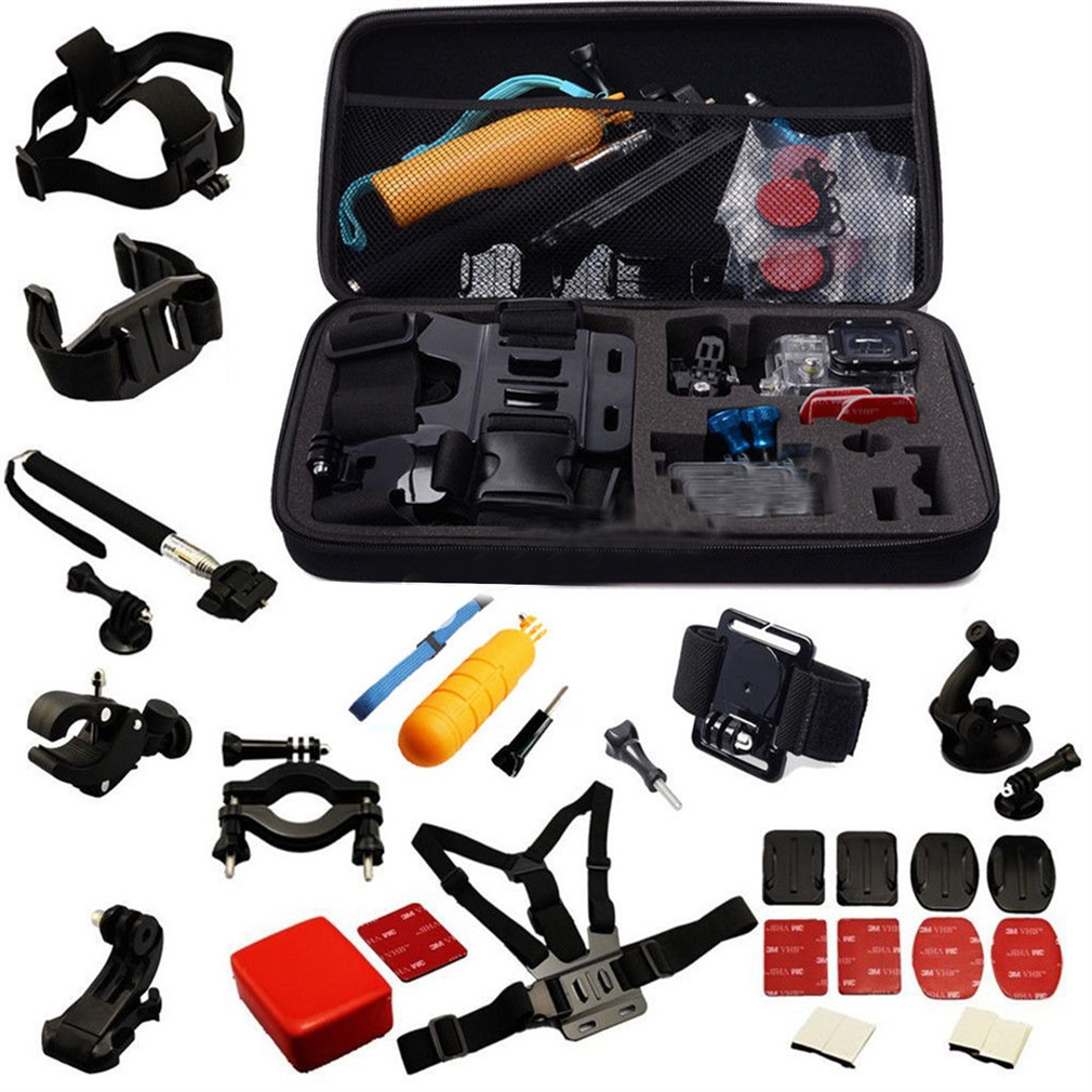30 in 1 Professional Kit Accessories Bundle for Gopro HD Hero 4 3 + 2 SJ4000
