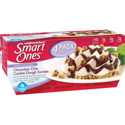 Weight Watchers Smart Ones Smart Delights Chocolate Chip Cookie Dough Sundae, 2.11 oz, 4 ct