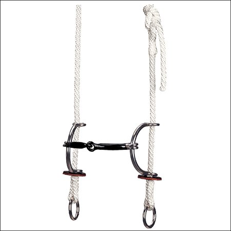WEAVER LEATHER TACK GAG BRIDLE WITH SMOOTH SWEET IRON SNAFFLE SLIDING HORSE BIT