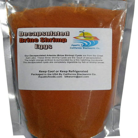 Aquatic Foods Decapsulated Brine Shrimp Eggs, for Corals, Sea Horse, ALL Fry & Babies - 1/8-lb