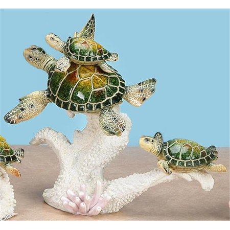 Unison Gifts YXC-906 10 In. Family Of Green Sea Turtles Swimming - image 1 de 1