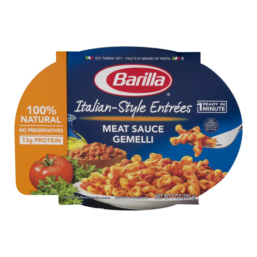 Barilla Pasta Italian-Style Entrees Meat Sauce Gemelli, 9.0 OZ