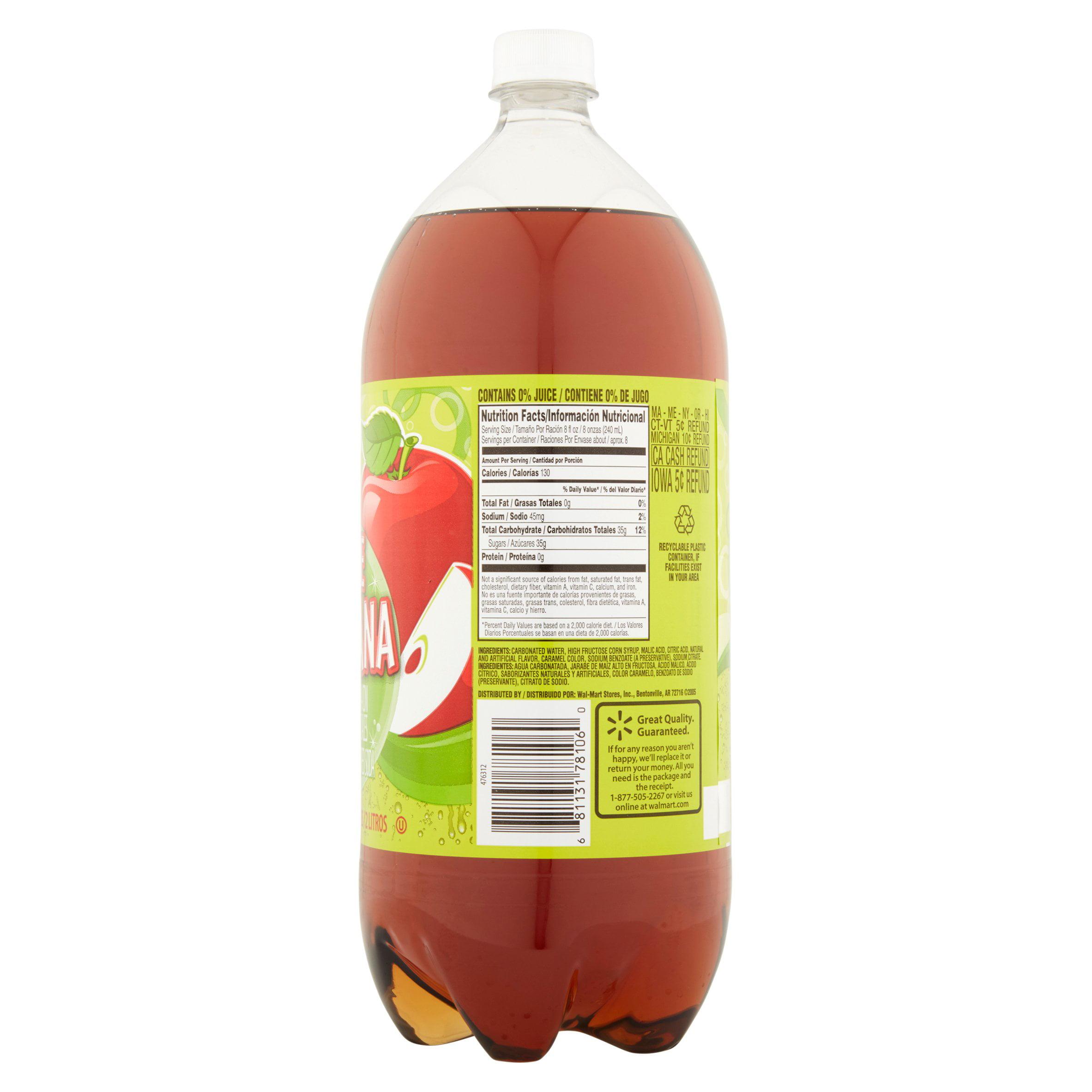 Great Value Apple Manzana Soda 2 L Walmart