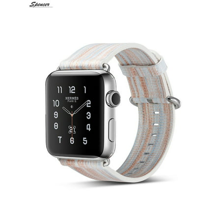 a329b695d Spencer - Spencer Genuine Leather Watch Bands Strap Wrist Replacement Bands  Compatible For Apple Watch Series 4/3/2/1 42mm - Walmart.com