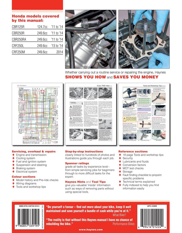 Honda Cbr 125 R Wiring Diagram Libraries Motorcycle Engine Shaft Cbr125r Cbr250r U0026 Crf250l M U002711 U002714 Walmart Comhonda