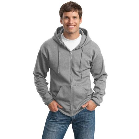 Port & Company® Tall Essential Fleece Full-Zip Hooded Sweatshirt. Pc90zht - image 1 de 1