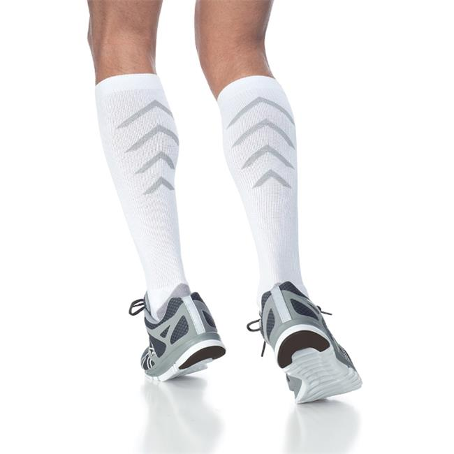 Sigvaris 15-20mmHg Athletic Recovery Socks in White, Large