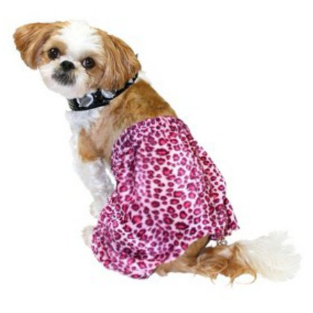 Punk Rock Dog Costume Pink Leopard Print Pet Outfit & Choker for $<!---->