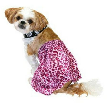 Punk Rock Dog Costume Pink Leopard Print Pet Outfit & Choker (Punk Rock Outfits)